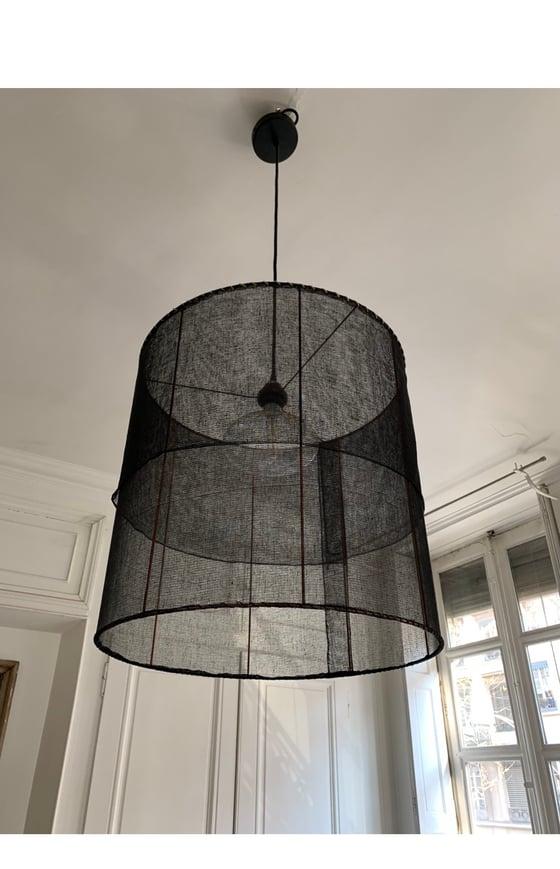 Image of Suspension gaze coton noire