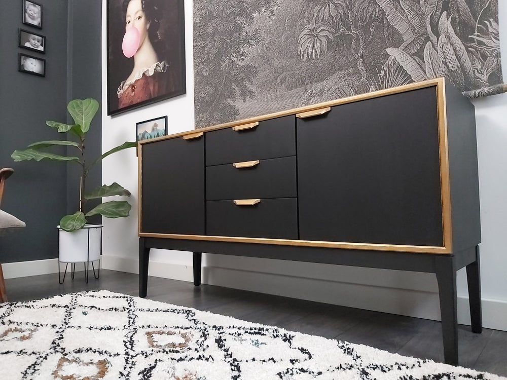 Image of COMPACT SIDEBOARD BY HERBERT E. GIBBS
