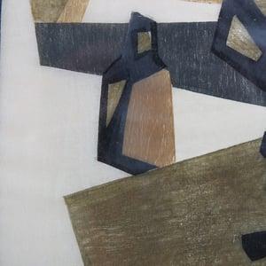 Image of 1953, Woodcut, Cubist Still Life, Gosta Lindqvist