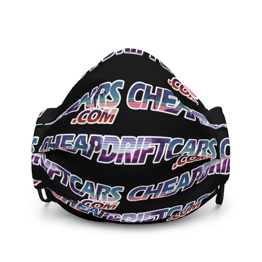 Image of Cheap Drift Cars Premium face mask