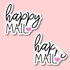 Happy Mail Stickers - 51 per sheet *choose the heart colour!* Image 4