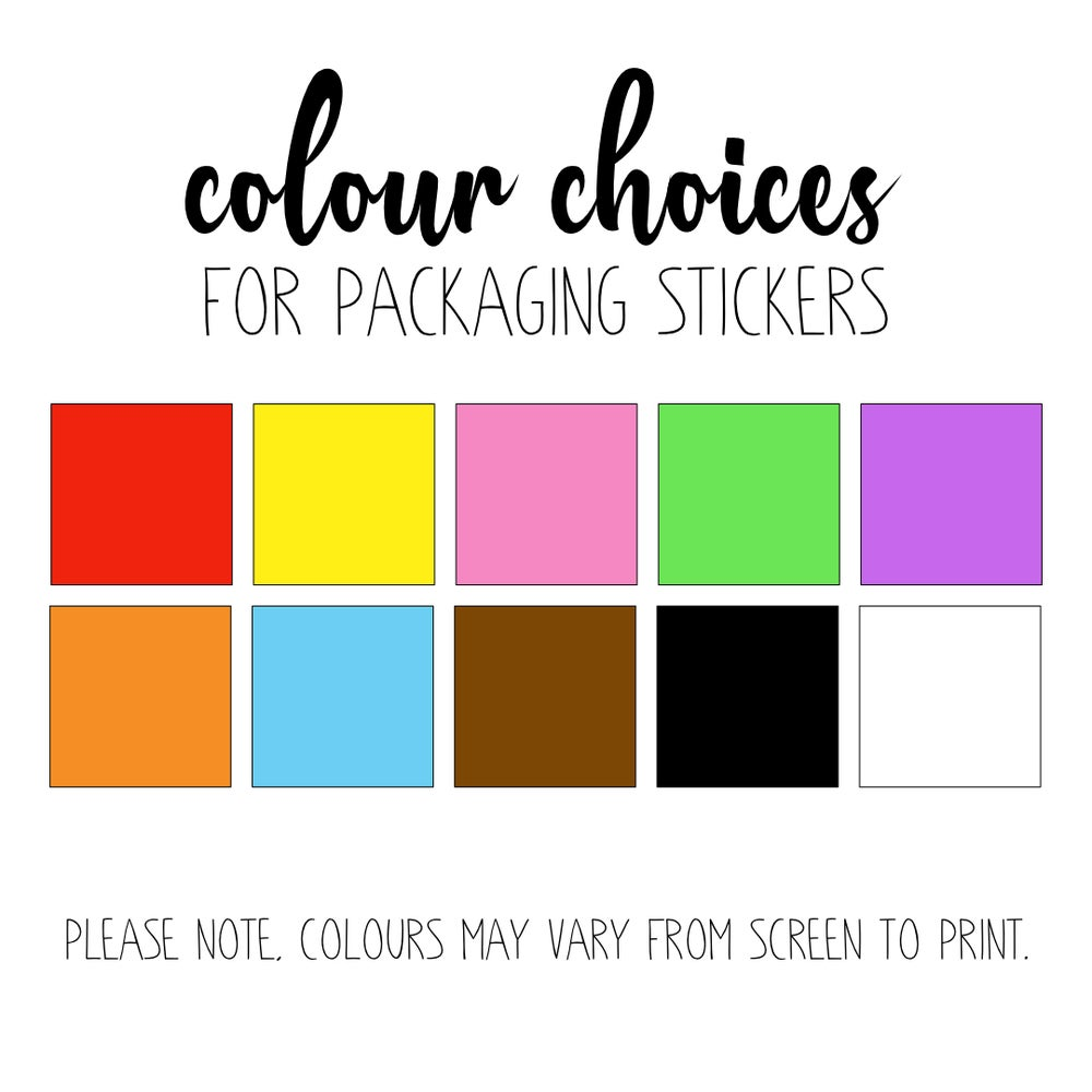 Happy Mail Stickers - 51 per sheet *choose the heart colour!*