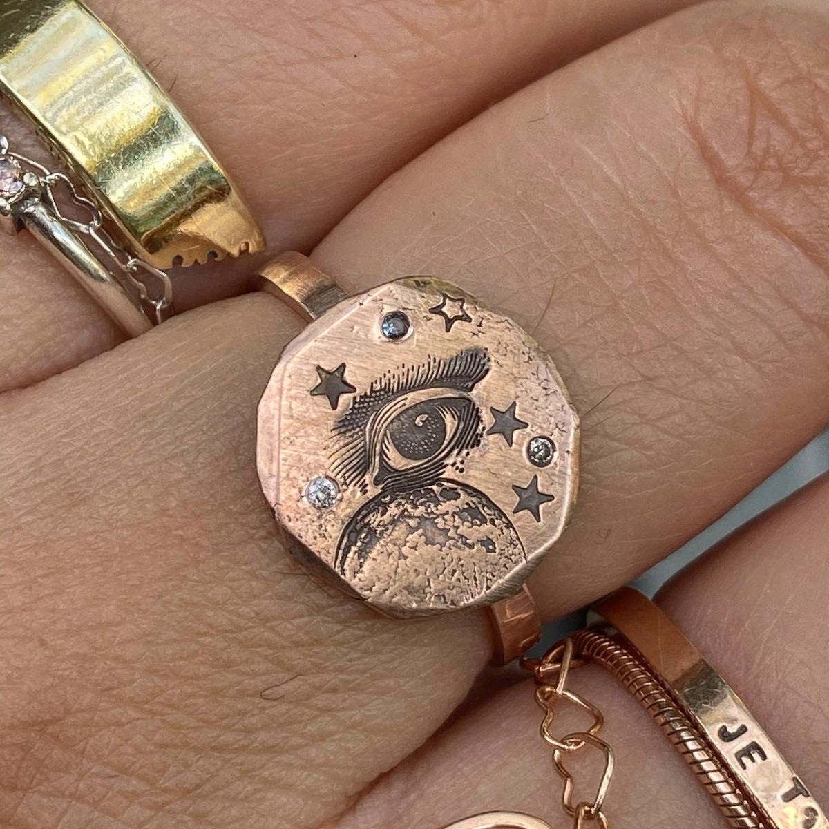Image of Eye and moon ring