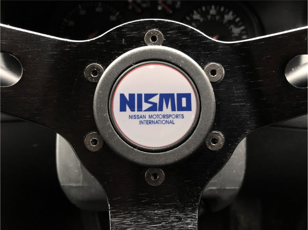Image of Nismo Classic Hornpush Sticker 40mm Domed