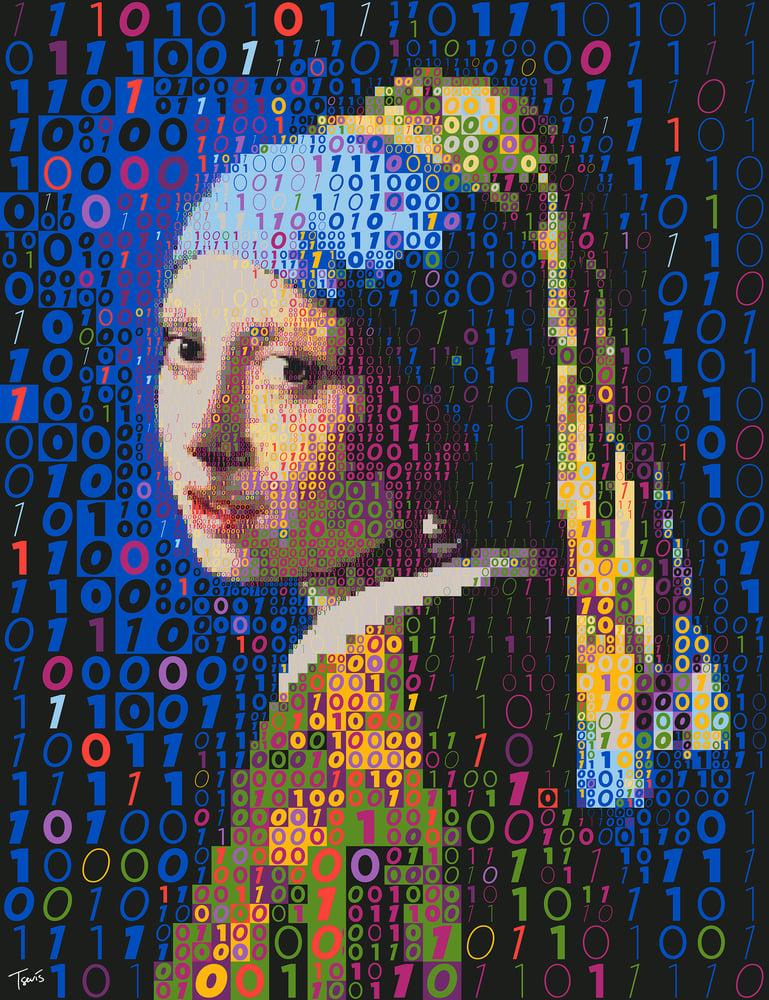 Image of Binary Girl with earing