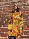 Milano pocket dress. Grunge print - adult