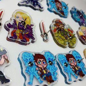 LIMITED: Borderlands and FFXIV Acrylic Pins!