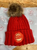 Image of SO58 Chunky Bobble Hat in Red