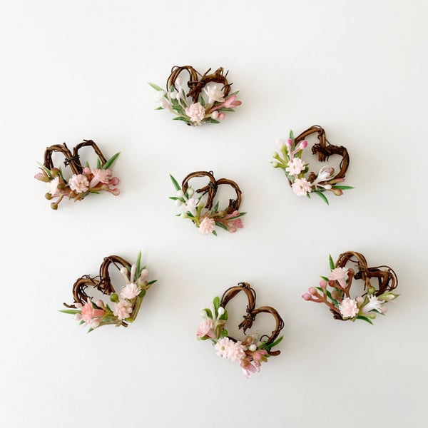 Image of Miniature Floral Heart Wreath
