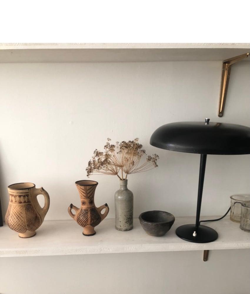 Image of Lampe vintage noire metal