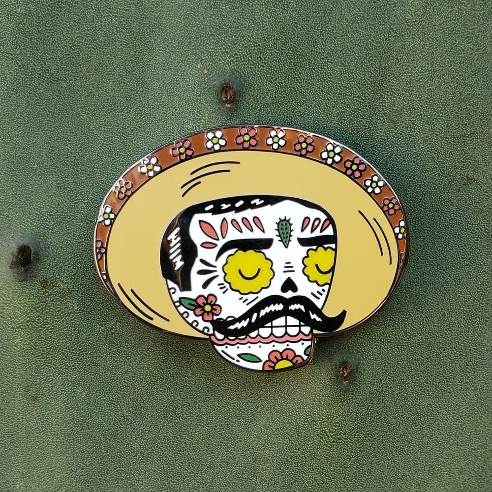 Zapata Calavera Enamel Pin