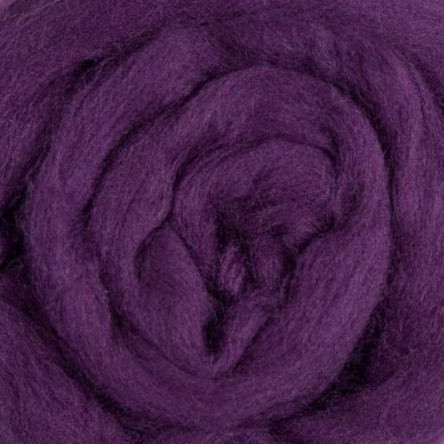 Image of This is a Pre-Order for EGGPLANT MerinoTop Dyed Solid Color Micron 21.5 - 1 lb