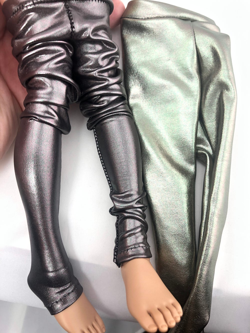 Damaged Metallic Leggings