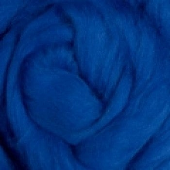 Image of This is a Pre-Order for BLUE MerinoTop Dyed Solid Color Micron 21.5 - 1 lb