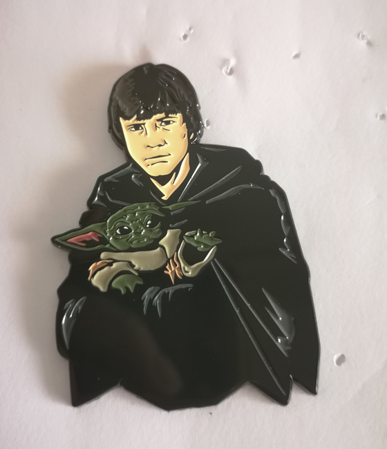 "Image of Luke and Grogu 2.5""  Lapel Pin INSTOCK Limited"
