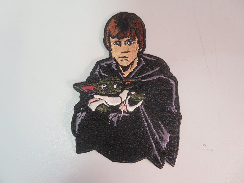 """Image of Luke and Grogu Force Legacy 4"""" Patch INSTOCK"""