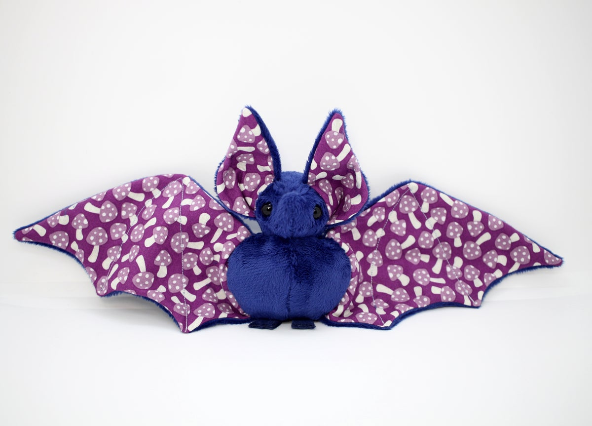 Image of Midnight Blue Poison Mushroom Bat - Ready to Ship
