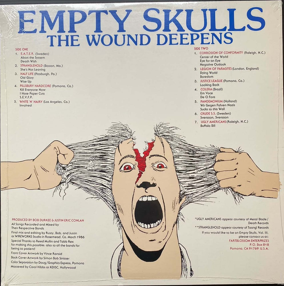 Image of V/A- EMPTY SKULLS - THE WOUND DEEPENS  VOLUME 2 1986 STOCK COPIES