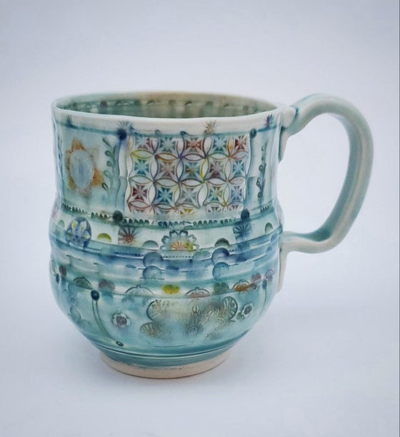 Image of Diamond Patch Porcelain Mug