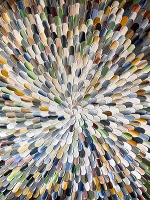 Image of Aura nemus - 90x90cm