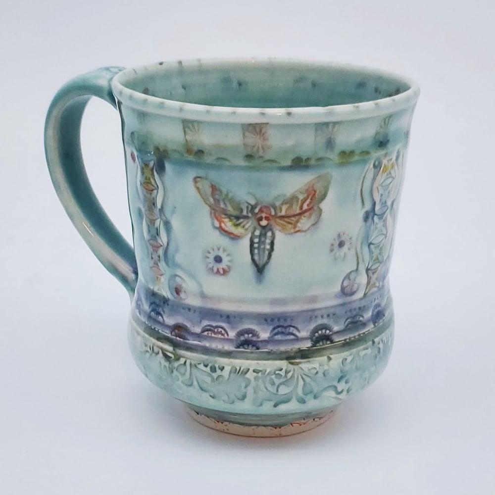 Image of Sphinx Moth Porcelain Mug
