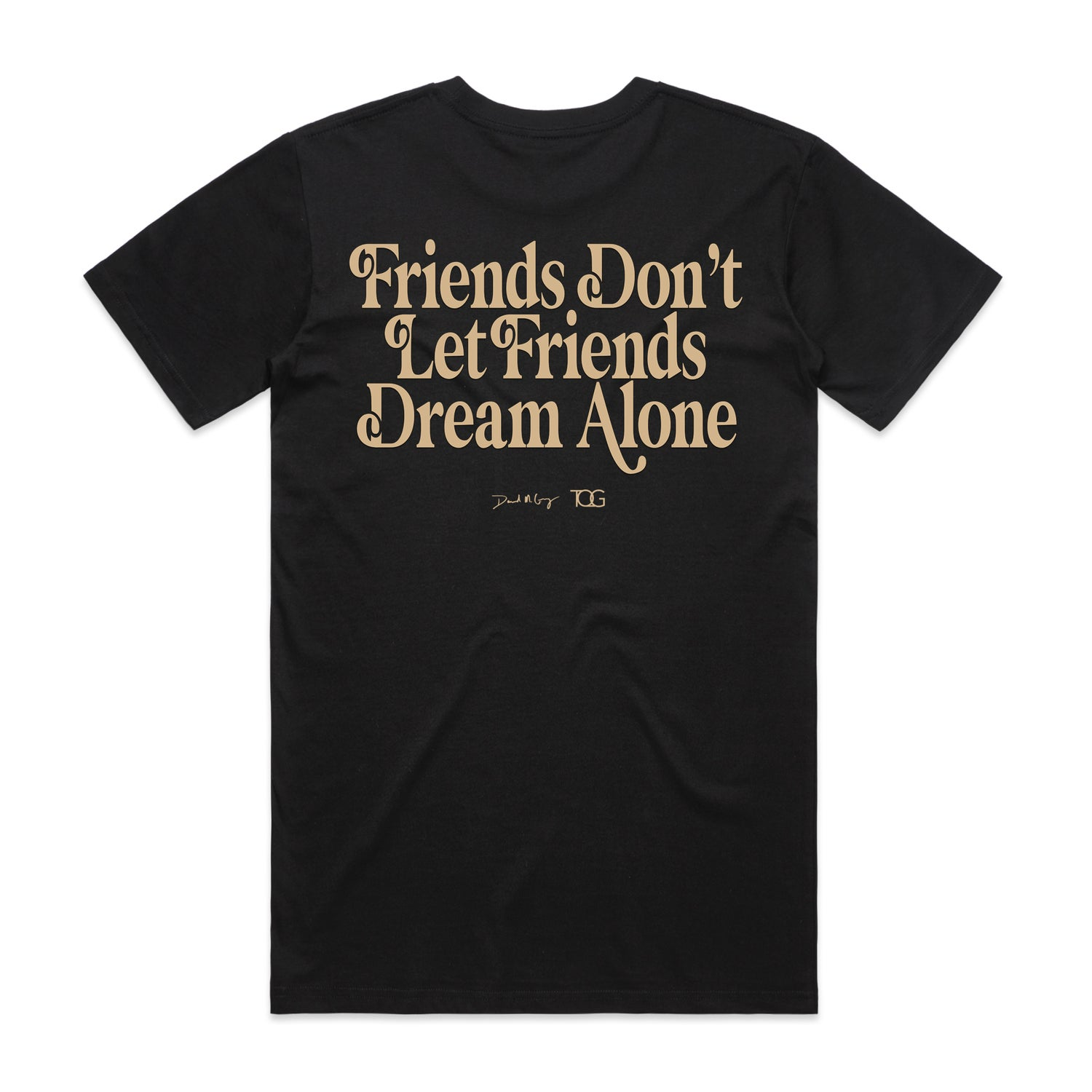 "Image of Black ""Made By Friends For Friends"" Collaboration Tee"