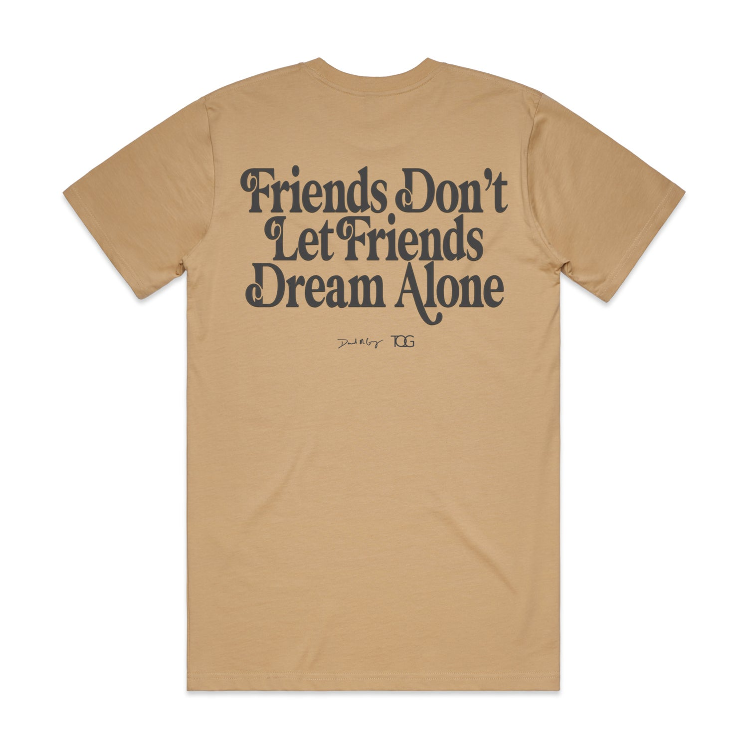 """Image of Tan """"Made By Friends For Friends"""" Collaboration Tee"""