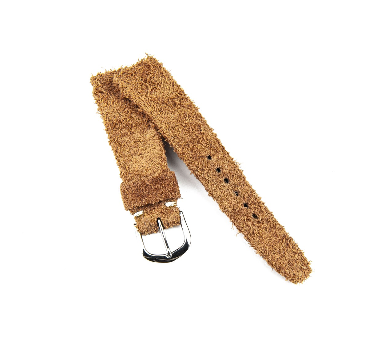 Image of Hand-rolled rembordé Wild Suede watch strap
