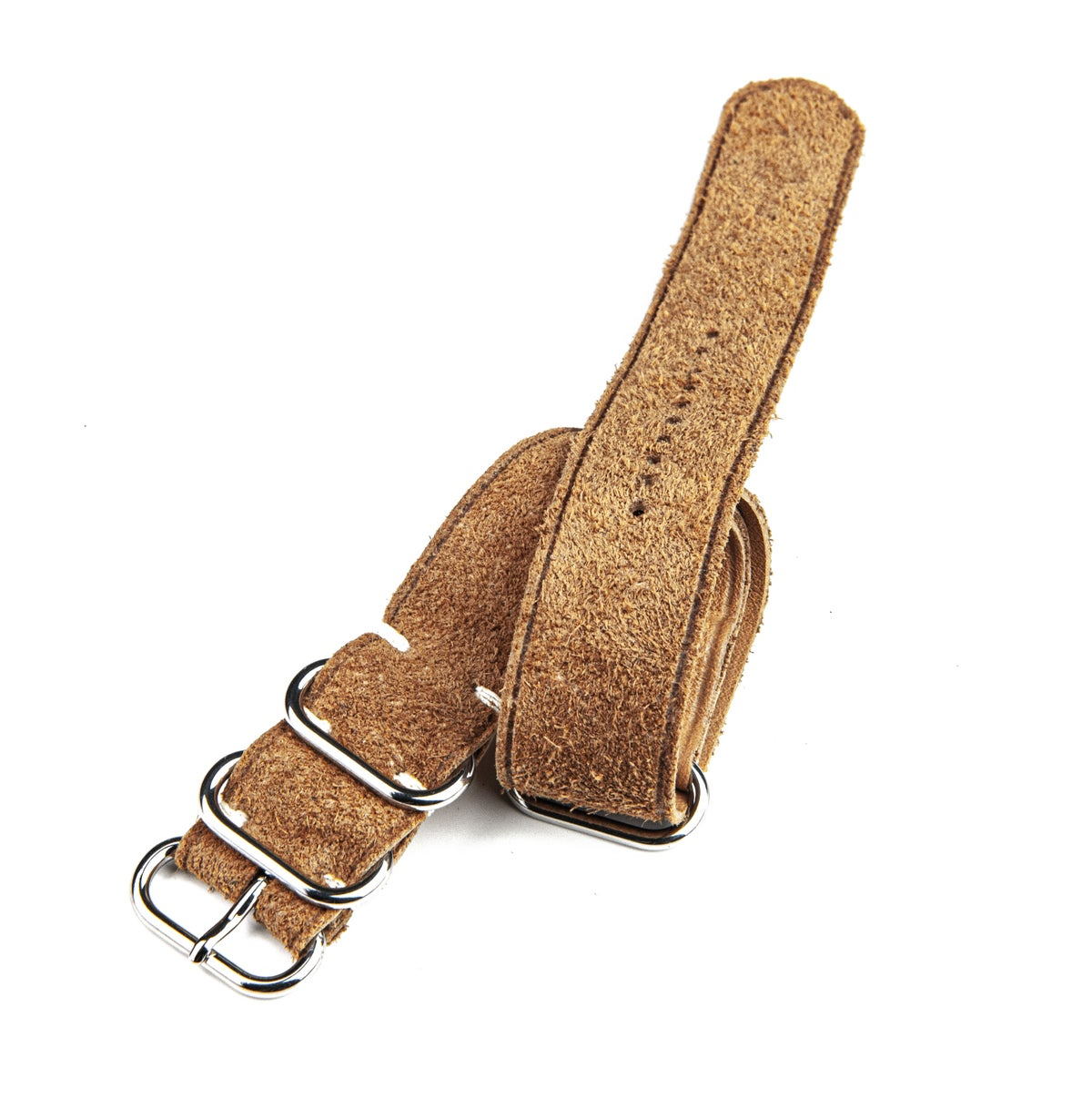 Image of Tan Reversed Suede Nato strap - unlined