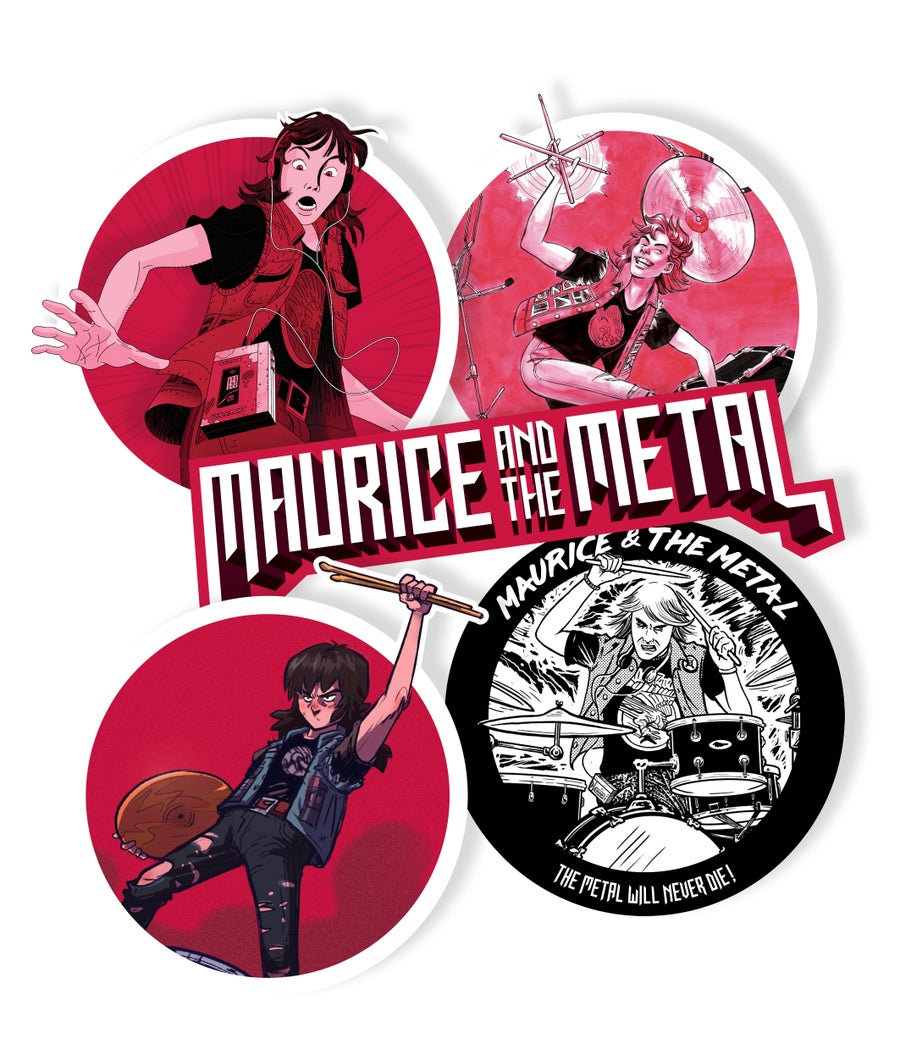 Image of Maurice & The Metal - STICKERS