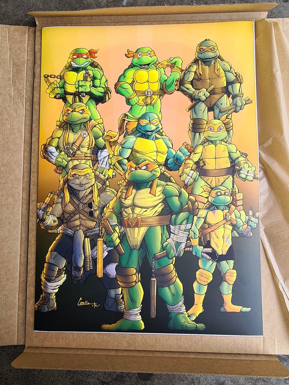 Michelangelo through the ages art print