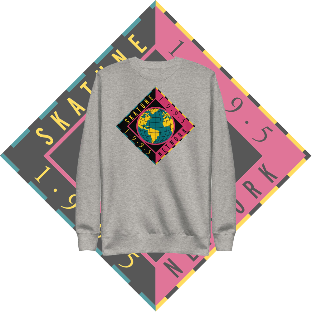 Image of SKATUNE GLOBAL 1995 | Gray Pullover Crewneck Sweatshirt