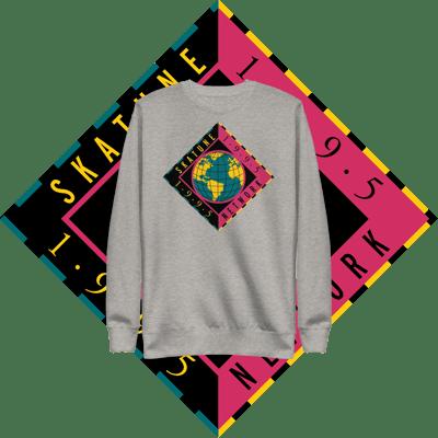 Image of SKATUNE GLOBAL 1995 | Gray Pullover Crewneck Sweatshirt