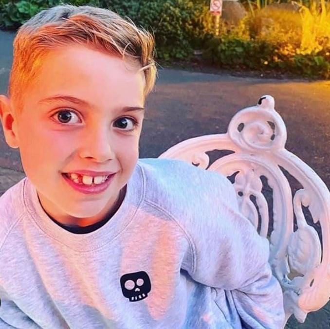 Skye skull sweater - child