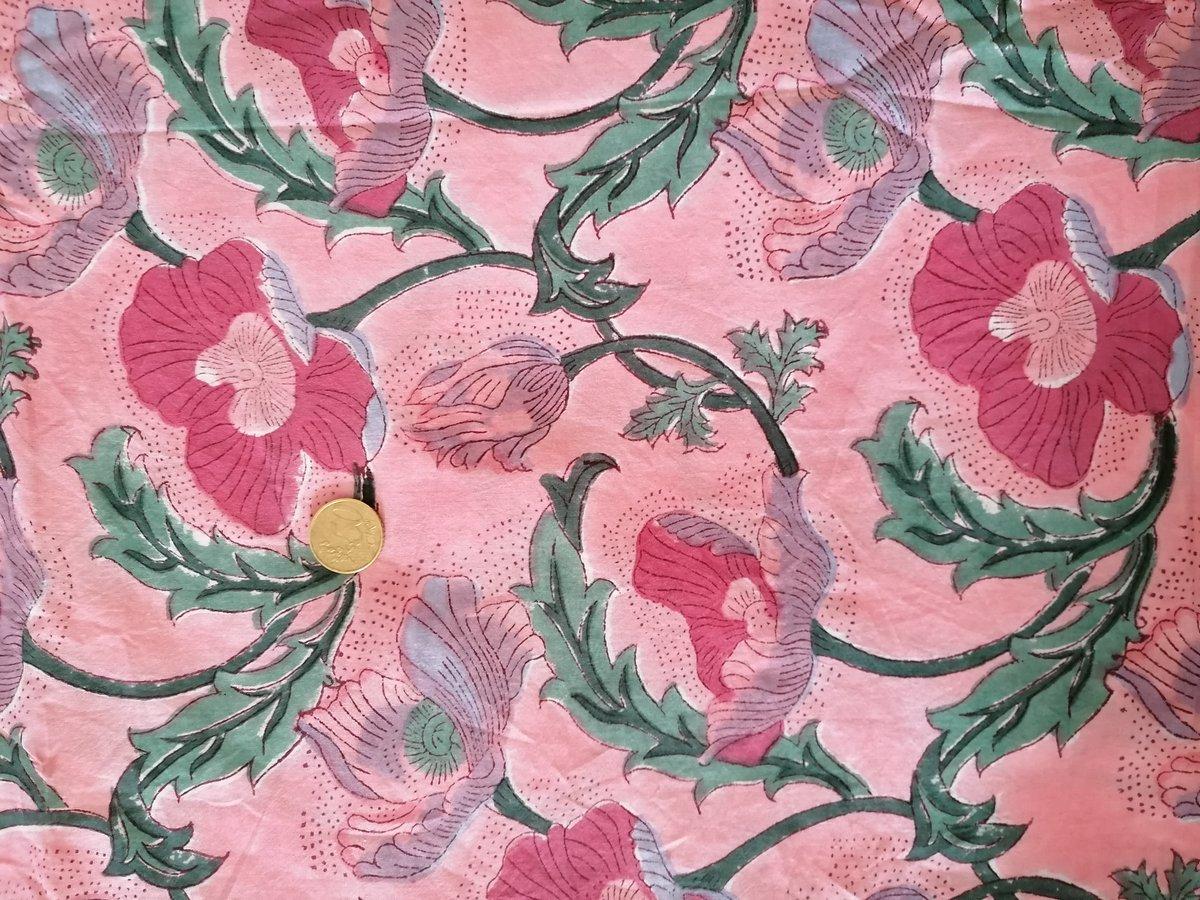Image of Namasté fabric soleil levant rose