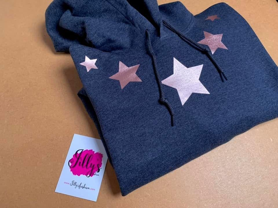 Image of Ally star collar hoodie - adult