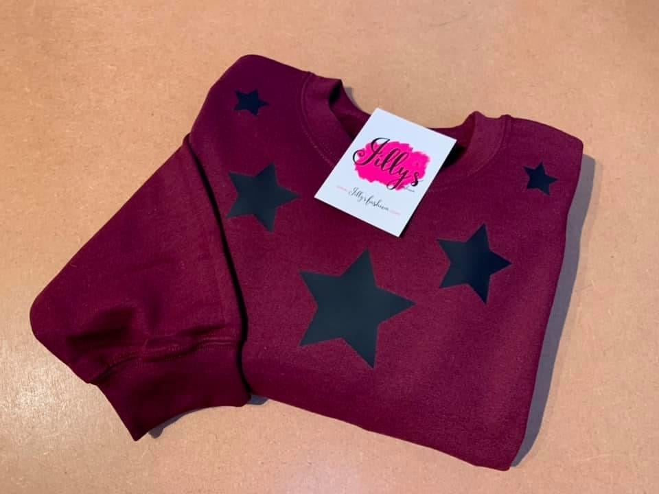 Ally star collar sweater - adult
