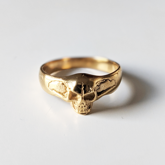 Image of Gold Skull Ring