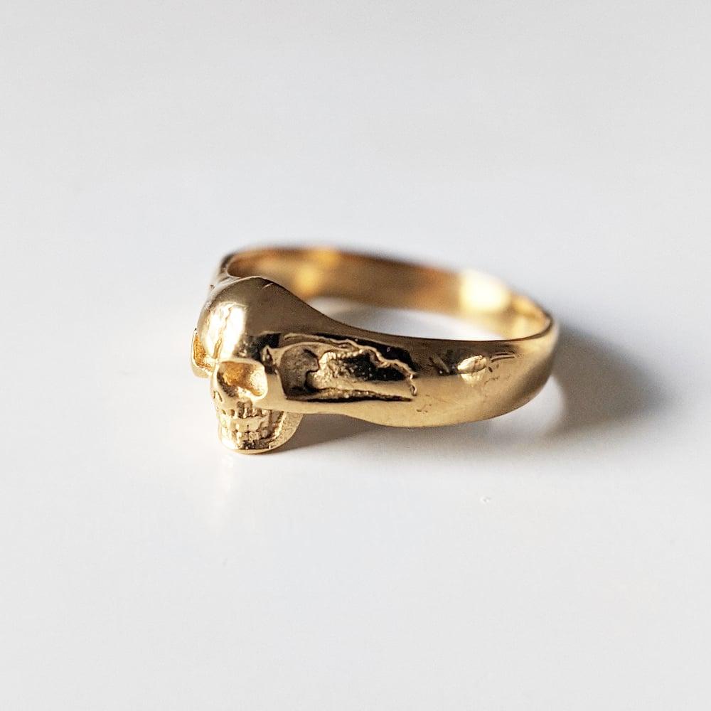 Image of Mini Gold Skull Ring