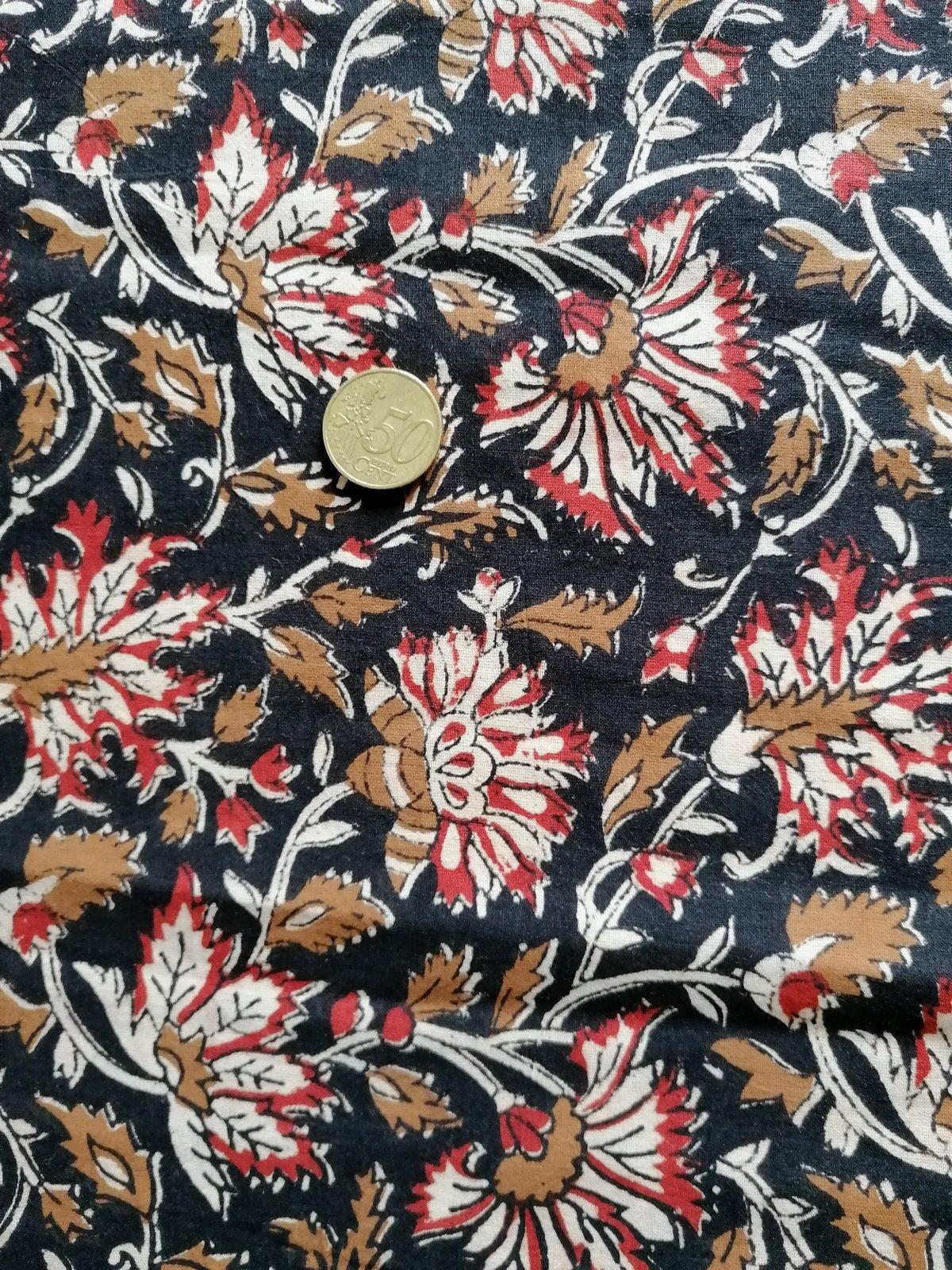 Image of Namasté fabric fleurs de chardon