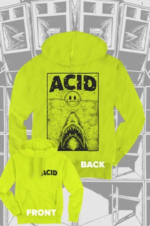 Image of Acid Shark Hoodie - ltd Neon Edition