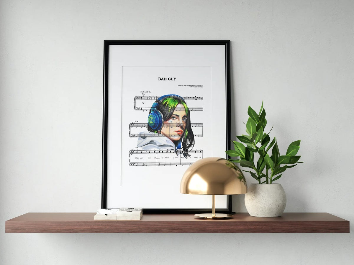 Billie Eilish Portrait Print