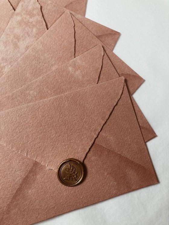 Image of Enveloppe vintage déchirée CAMPAGNE