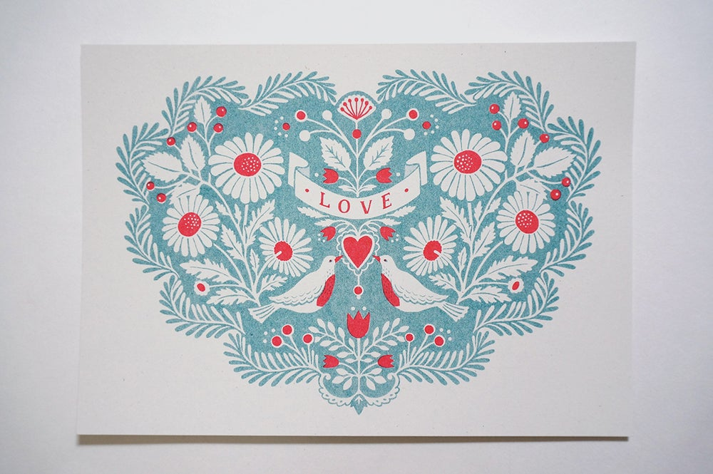 Image of LOVE Heart - Riso Print