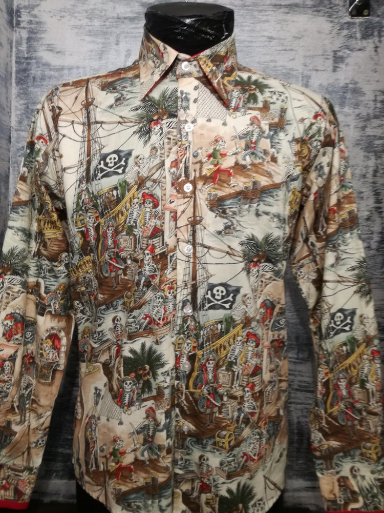 Image of Colourful pirates mens shirt
