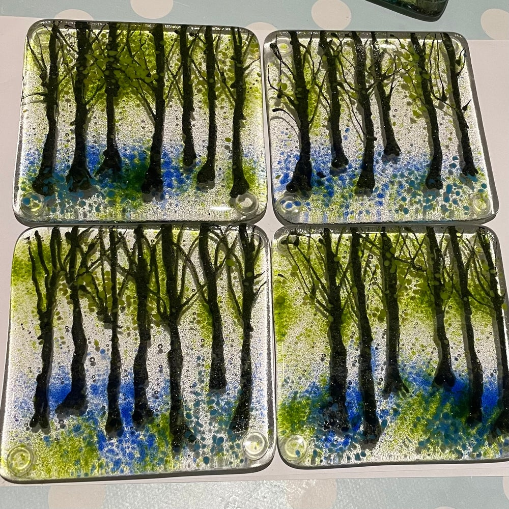 Image of Bluebell wood coasters