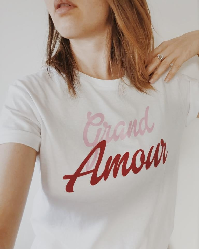 Image of Tee Shirt blanc  GRAND AMOUR