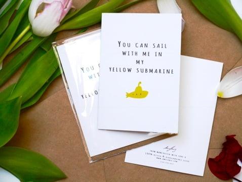 Image of Yellow Submarine Card