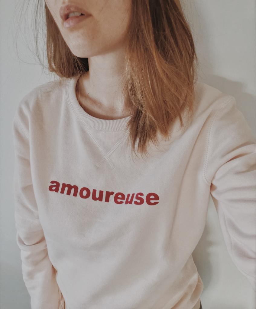 Image of Sweat ROSE Poudré Amoureuse