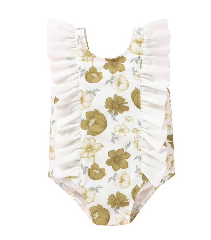 Floral Ruffle Swimsuit